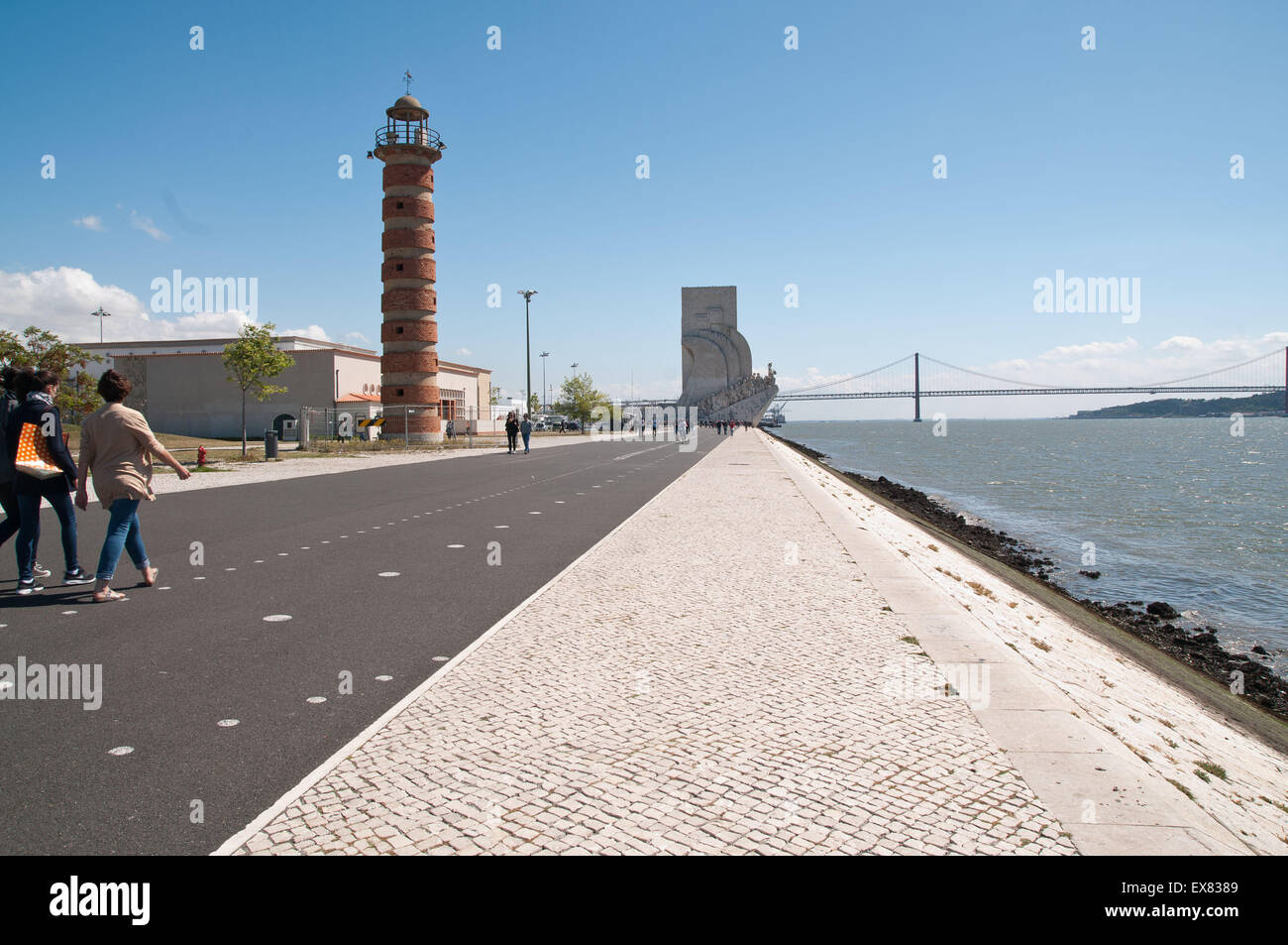 Monument to the Discoveries is a monument on the northern bank of the Tagus River estuary, in the civil parish of - Stock Image