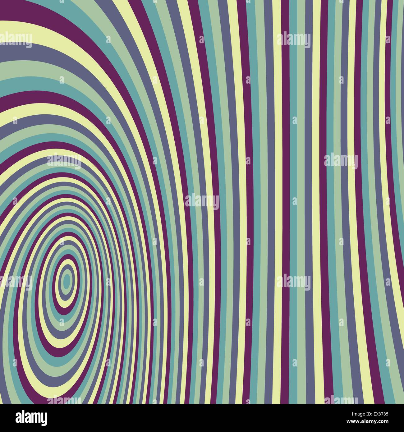 Abstract swirl background. Pattern with optical illusion. Vector illustration. - Stock Image