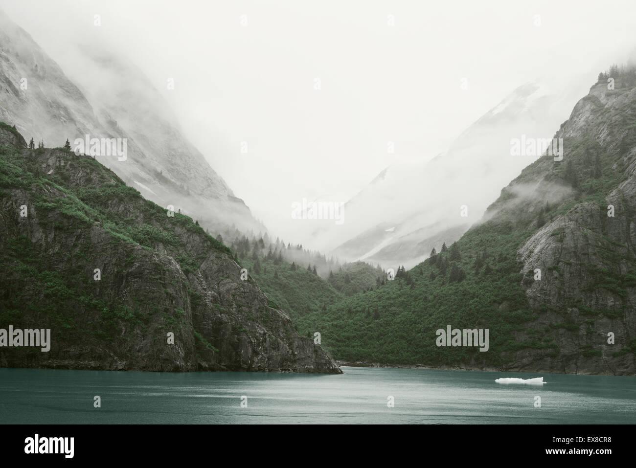 Inside Passage - Tracy Arm landscape, Alaska - Stock Image