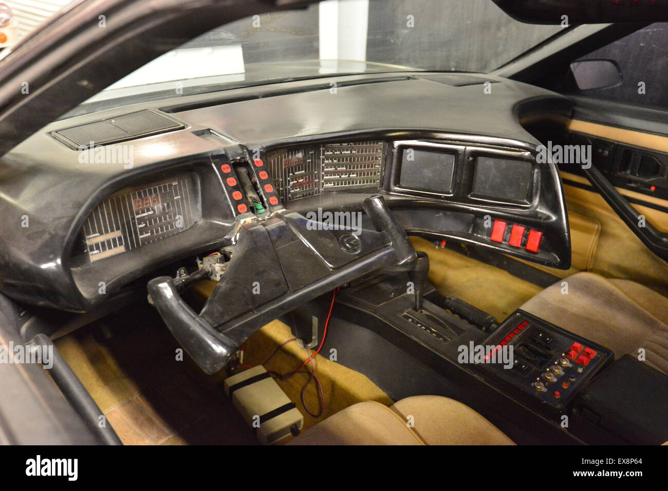 Knight Rider Trans Am Interior.   Stock Image