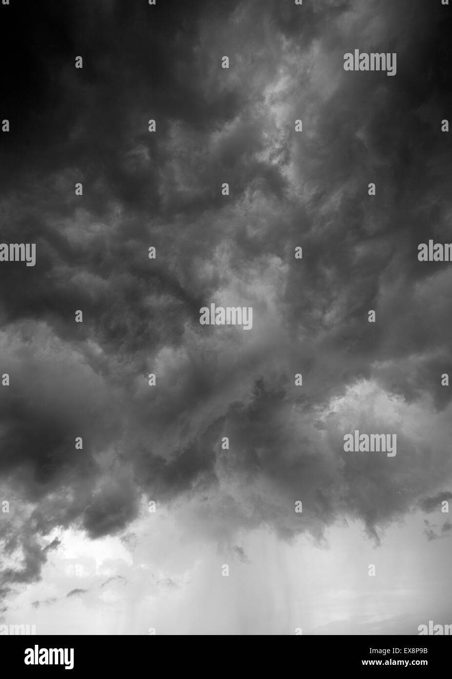 Dramatic Storm Clouds Gathering - Stock Image