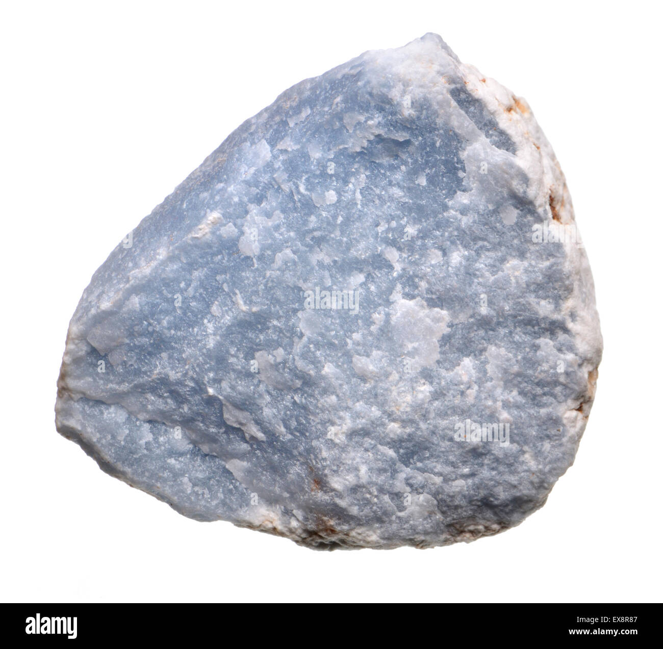 Angelite (blue form of Anhydrite - calcium sulphate) - Stock Image