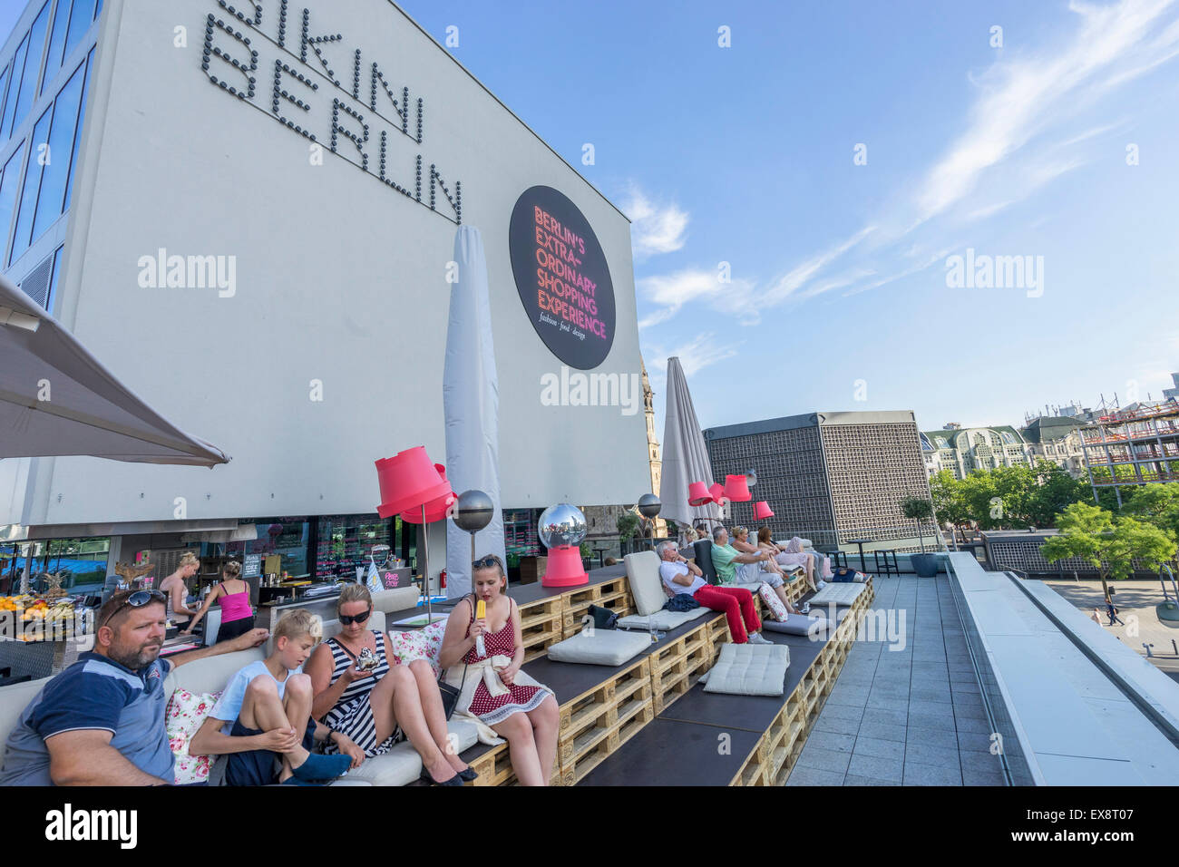 rooftop bar at bikini berlin new shopping centre in berlin germany stock photo 85016967 alamy. Black Bedroom Furniture Sets. Home Design Ideas