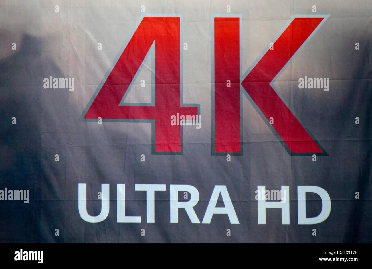 Markennamen: '4K Ultra HD', Berlin. - Stock Image