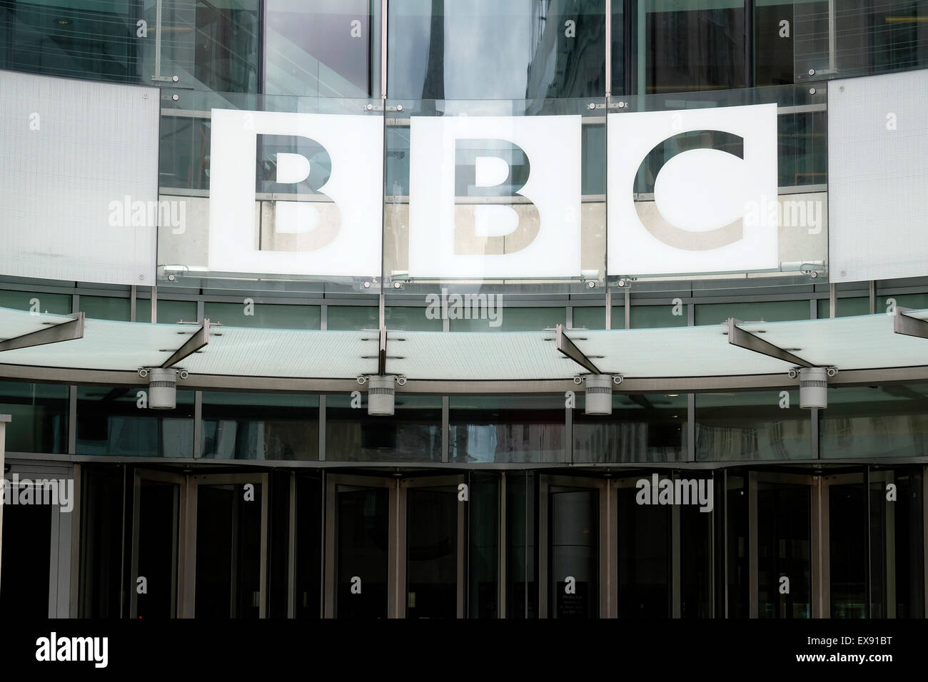 BBC sign in central London - Stock Image
