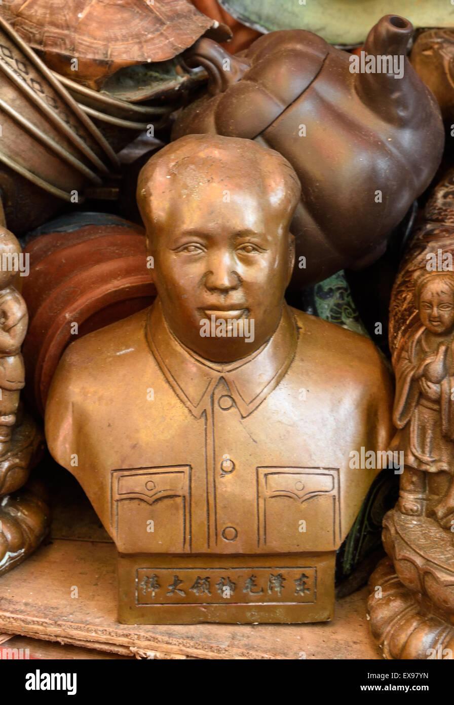 "Chinese First Chairman Mao Tse-tung Bronze Statue 13/""H"