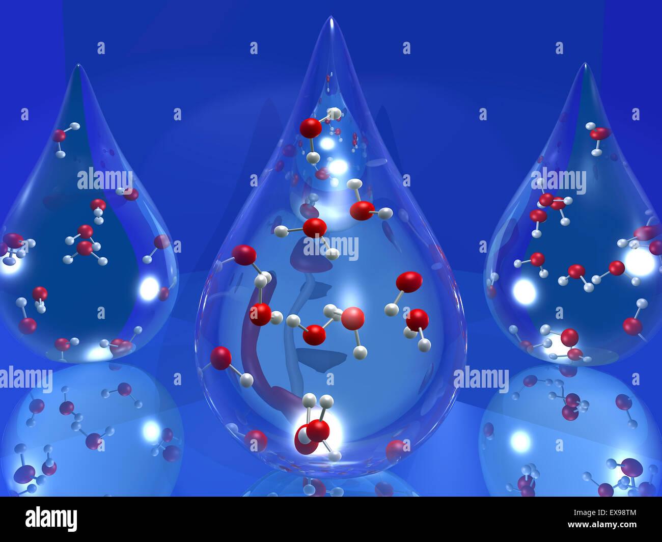 Water molecule dating profile