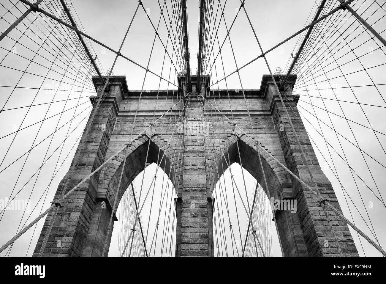 architectural detail photography. Brooklyn Bridge New York City Close Up Architectural Detail In Timeless Black And White Photography N