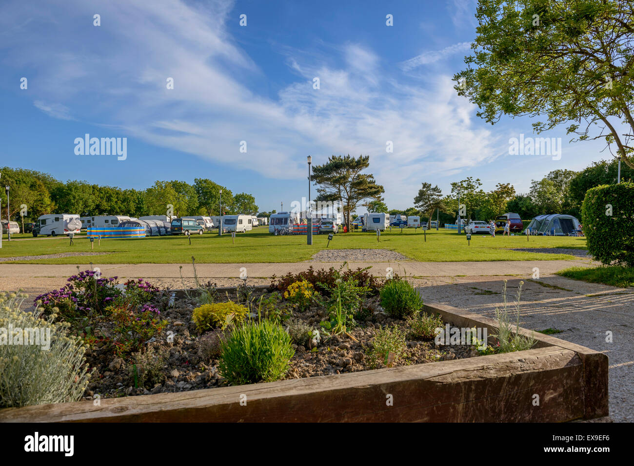 Hastings Touring Park  East Sussex  England  UK Stock Photo