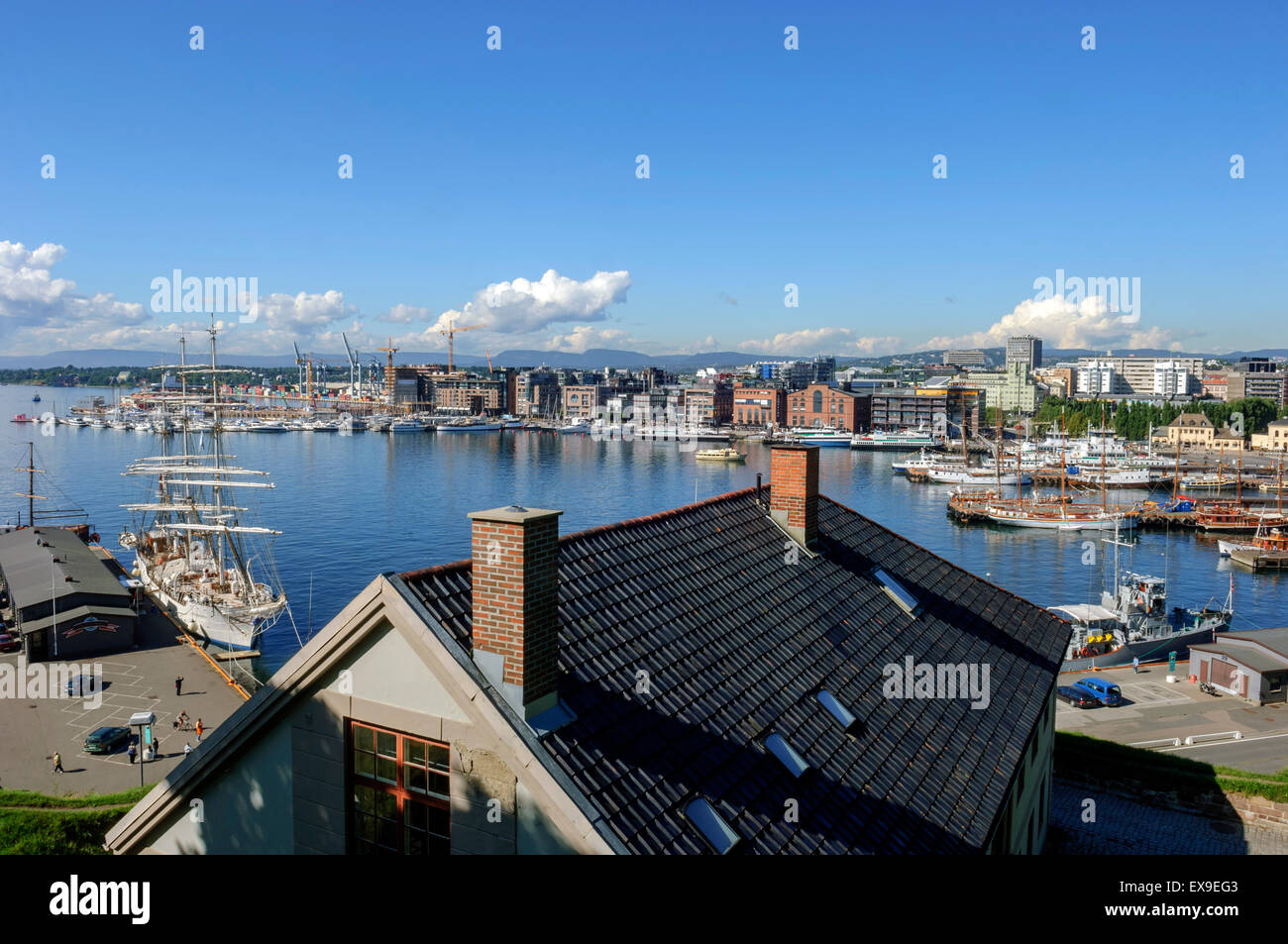Oslo harbour Norway - Stock Image