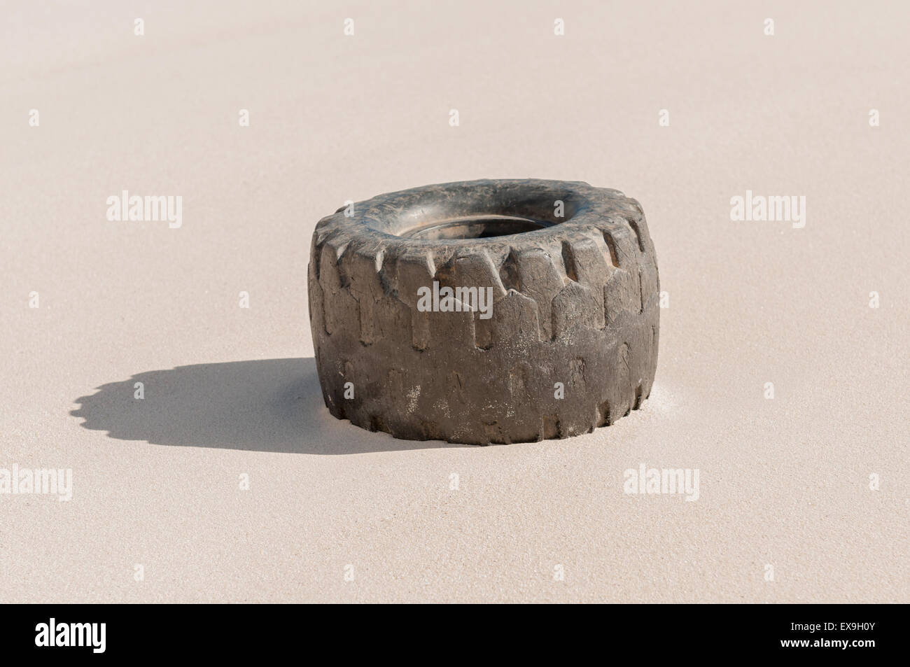 Go Kart Tyre On A Dune At Hout Bay South Africa Stock Photo
