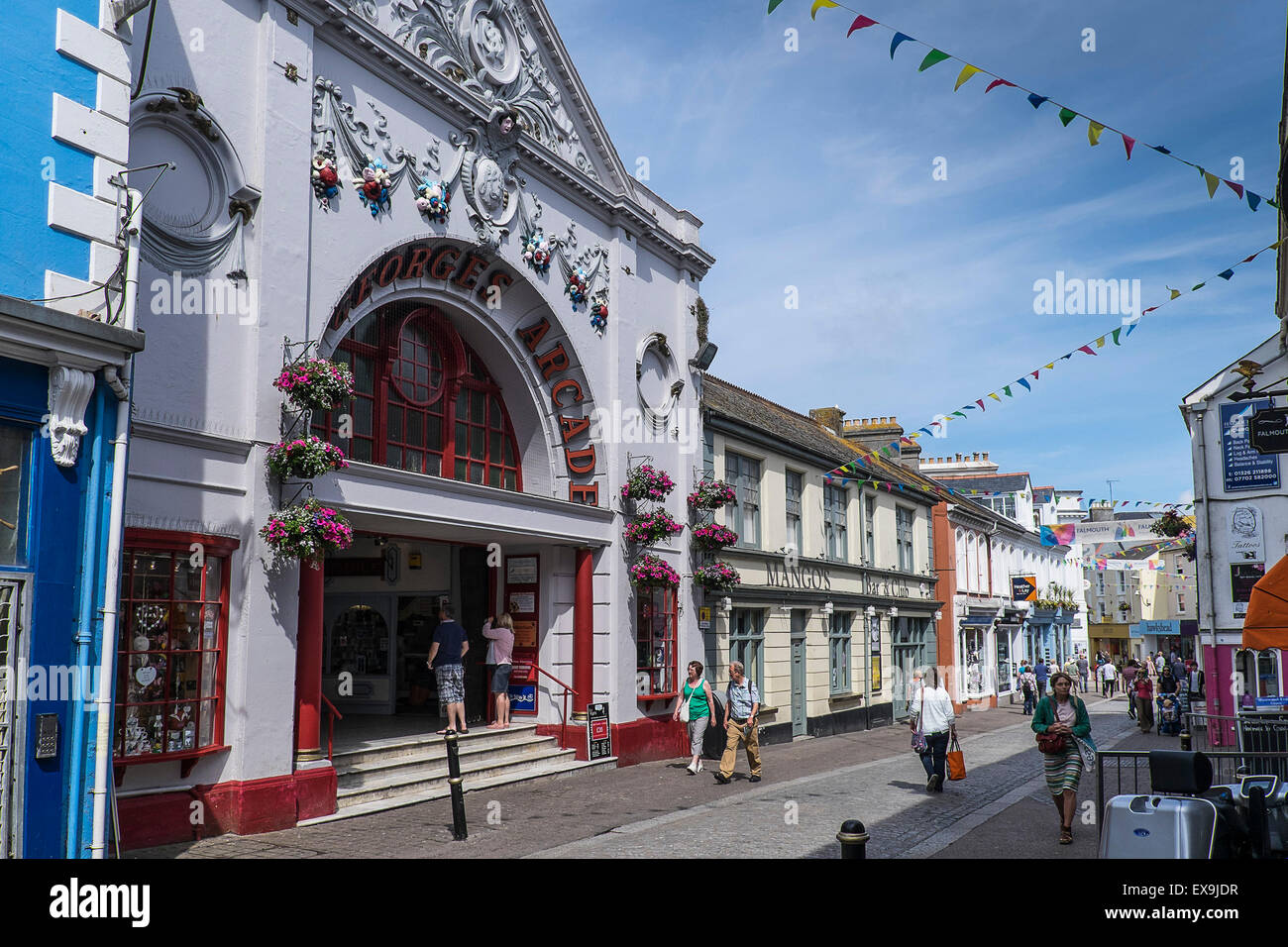 Georges Arcade in Church Street in Falmouth Town Centre, Cornwall. - Stock Image