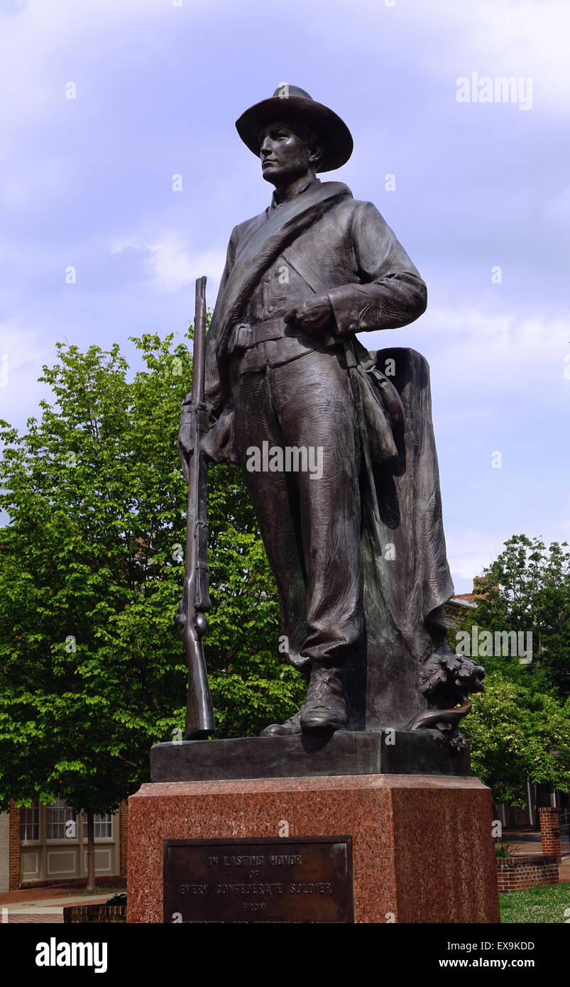 Confederate soldier monument, Old Town, Winchester, Virginia - Stock Image