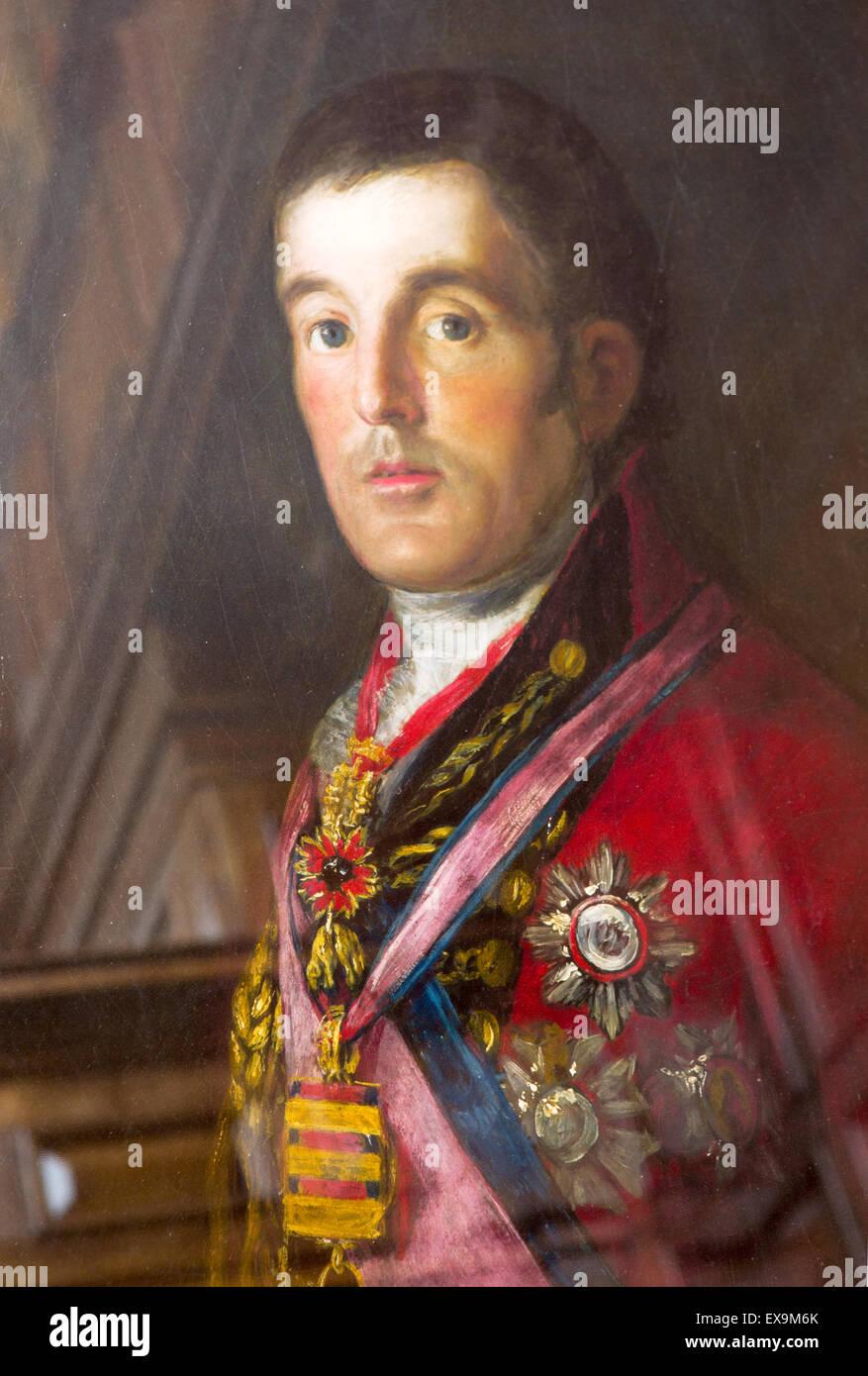 Portrait of the Duke of Wellington By Goya Royal Hospital Chelsea Home of Chelsea Pensioners  London UK - Stock Image