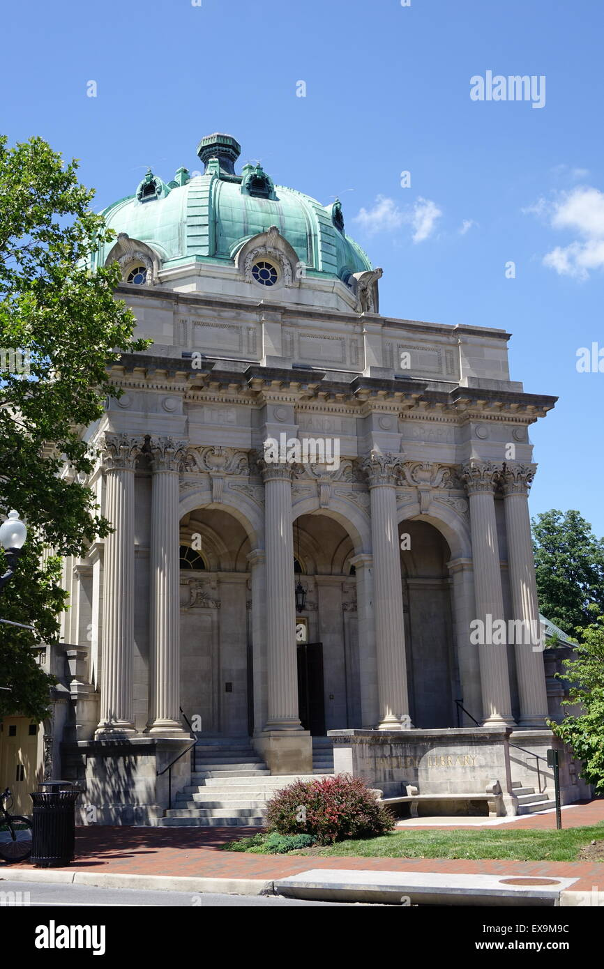 Handley library, Winchester, Virginia, dating to 1913 - Stock Image