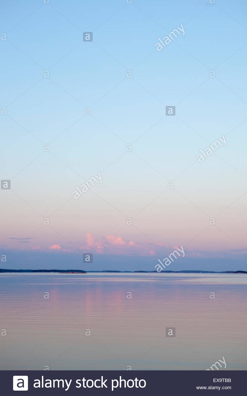 Pink night in the summer - Stock Image