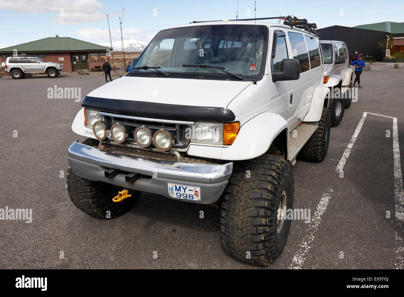 heavily modified 4x4 for off road driving and tours iceland - Stock Image
