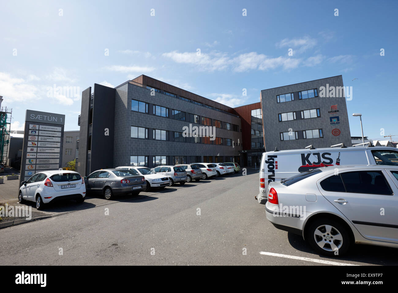Sætun 1 saetun offices of various unions and trade associations reykjavik iceland - Stock Image