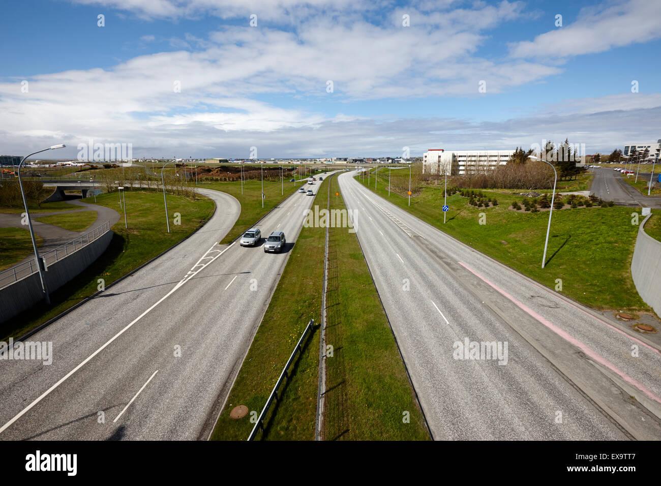 reykjavik city ringroad hringvegur iceland - Stock Image