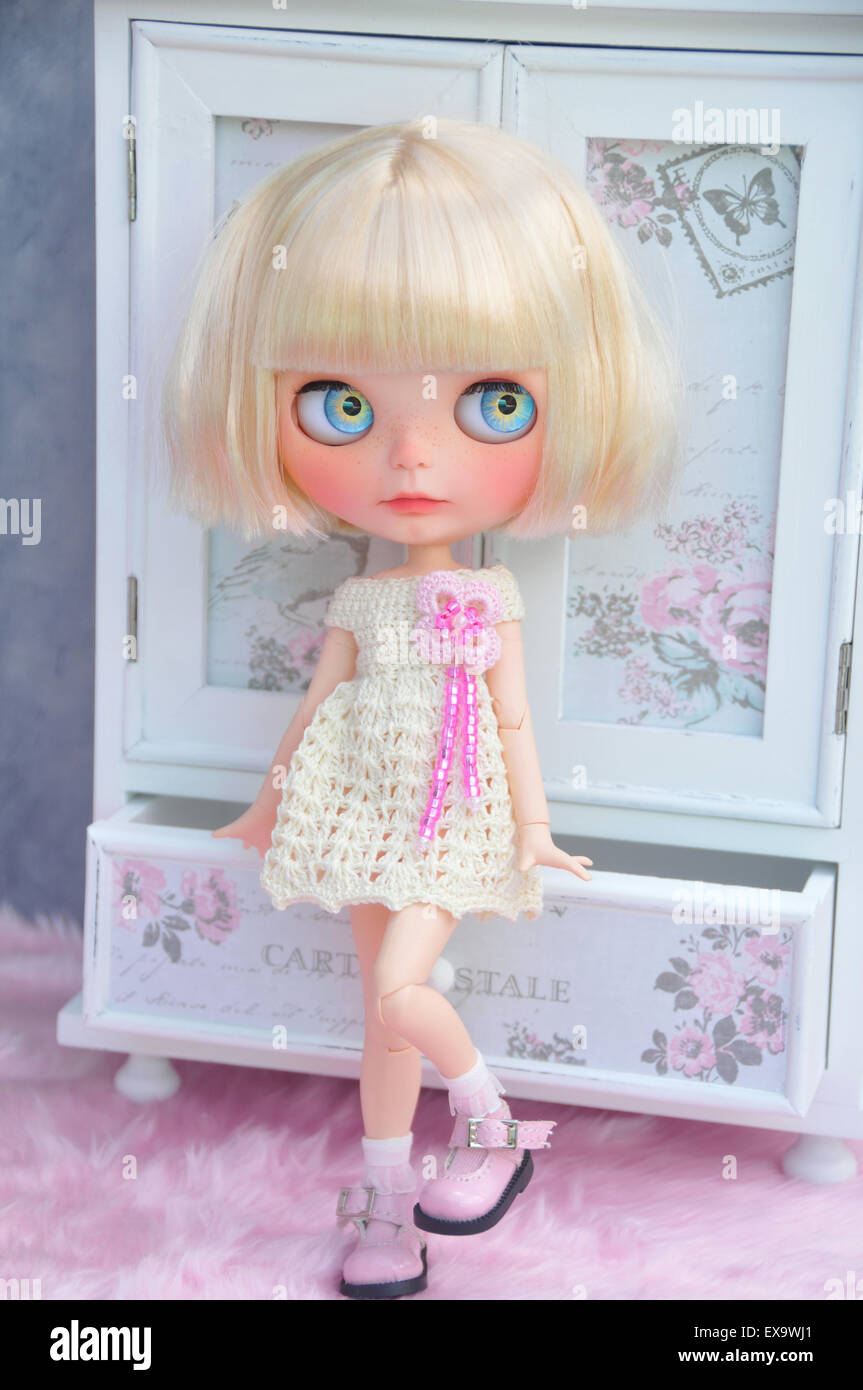 Beautiful art doll Stock Photo