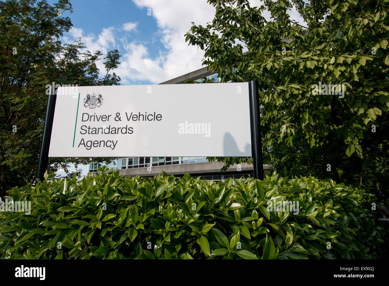 Driver & Vehicle Standards Agency sign outside Berkeley House, Bristol - Stock Image