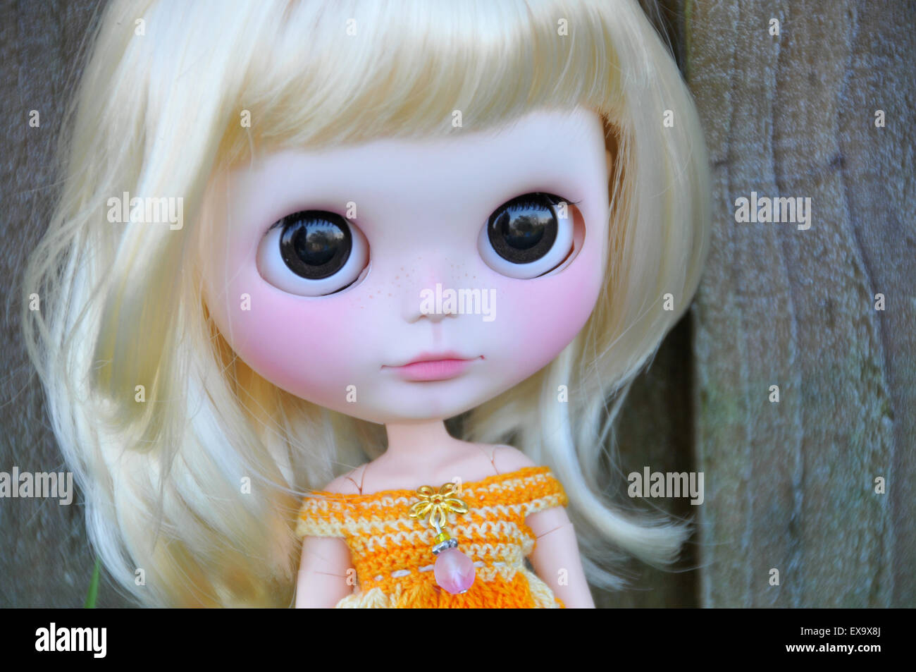 Beautiful doll - Stock Image