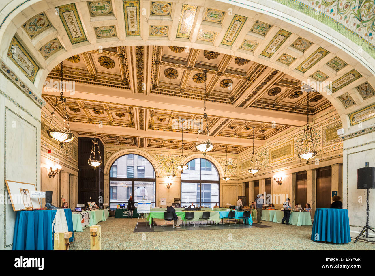 Chicago Cultural Center, formerly the Chicago Public Library, Chicago, Illinois, USA - Stock Image