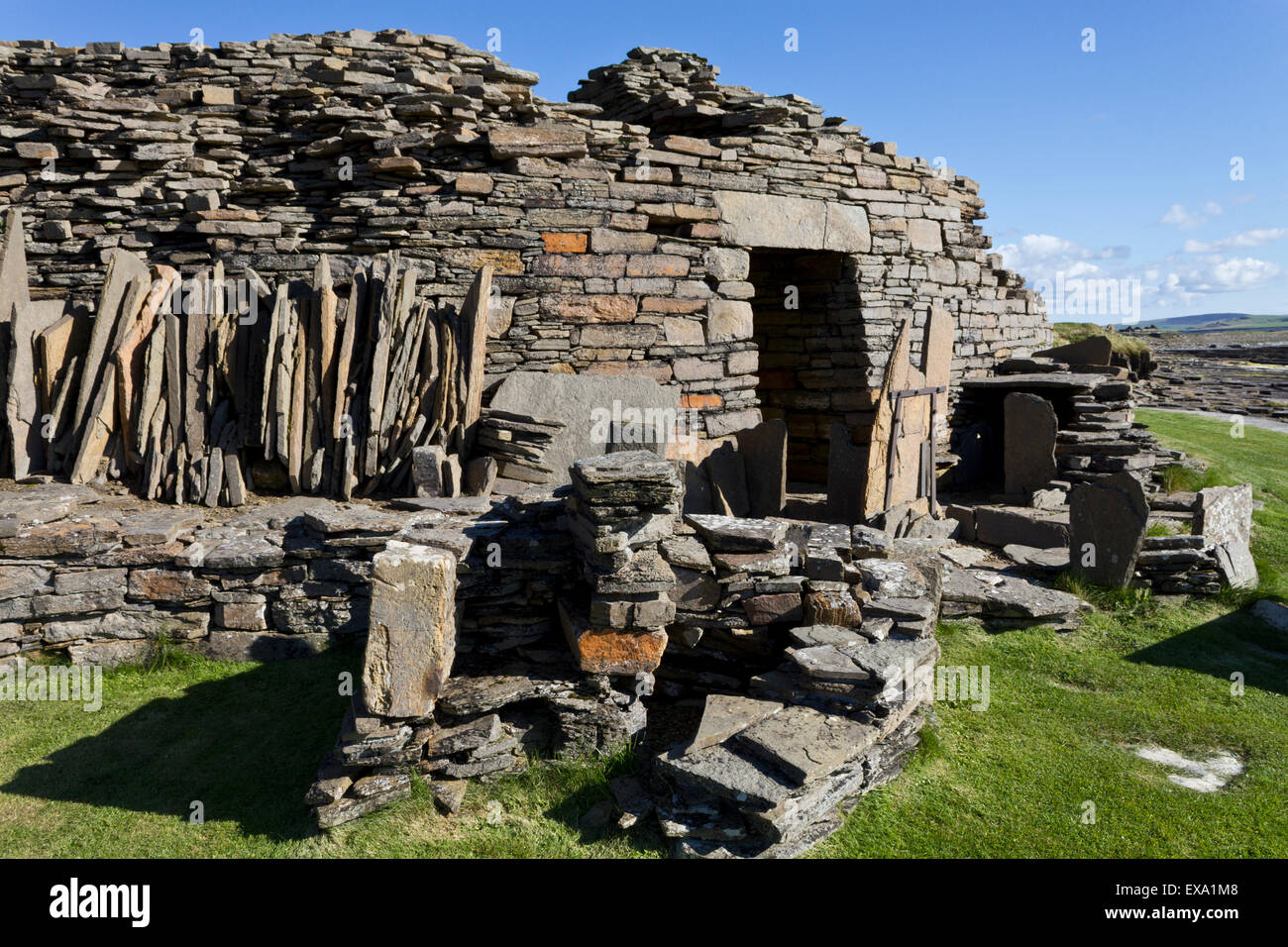 Midhowe Broch, Isle of Rousay - Stock Image