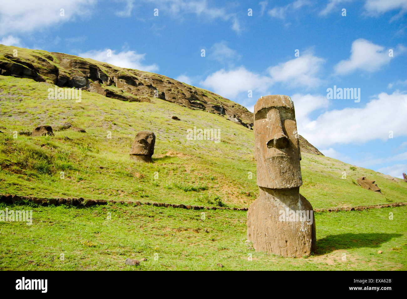 Moais - Easter Island - Stock Image