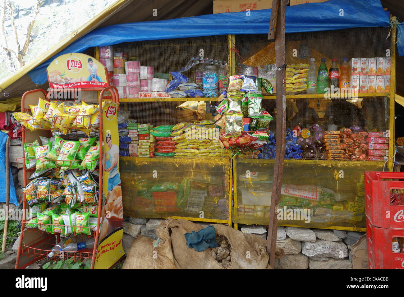 CHHATRU, HIMACHAL PRADESH, NORTHERN INDIA - 29 JUNE 2013: Chhatru is a popular rest stop on the journey between - Stock Image