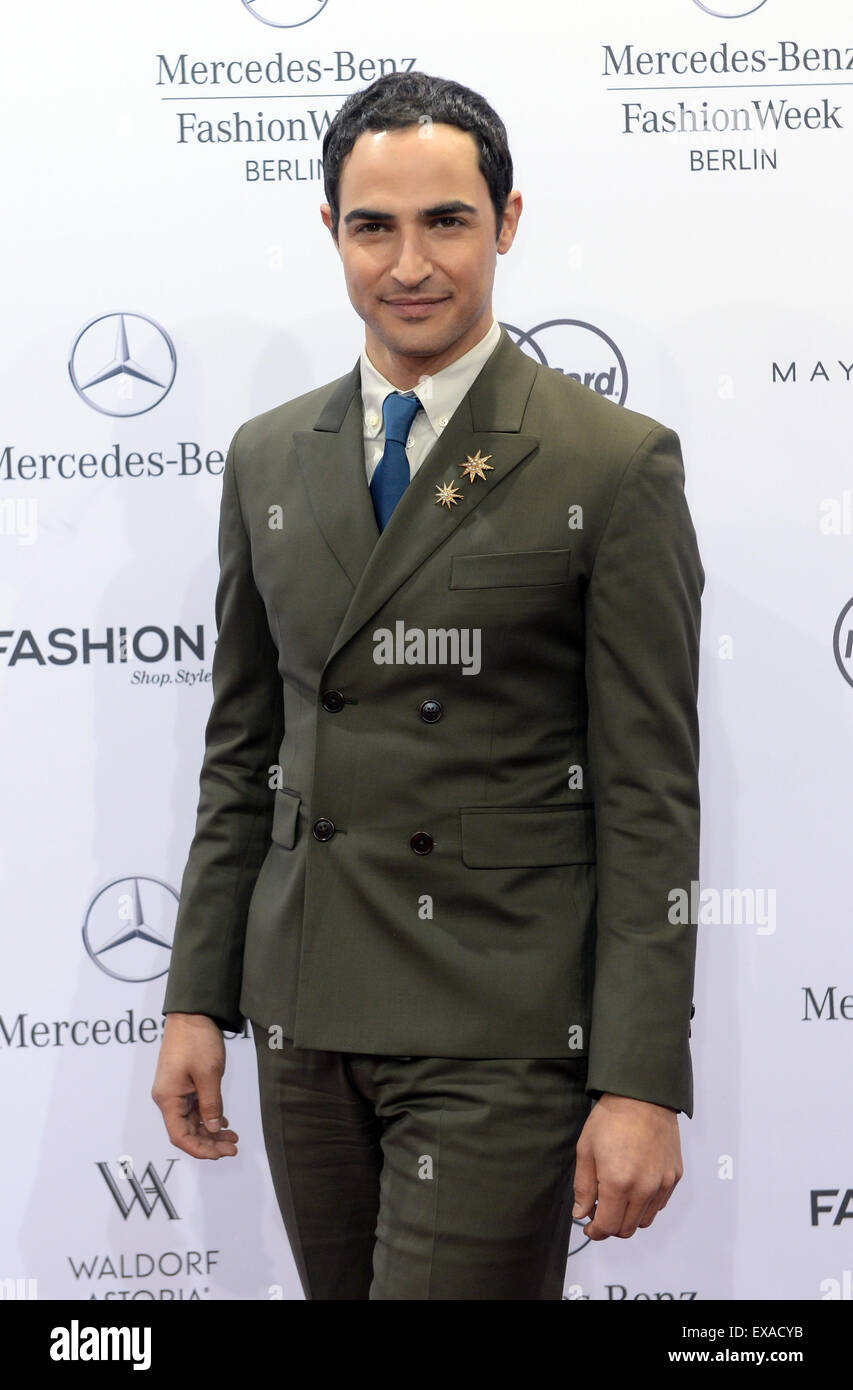 Berlin, Germany. 09th July, 2015. The US designer Zac Posen arrives at the at the show 'Designer for Tomorrow' at Stock Photo