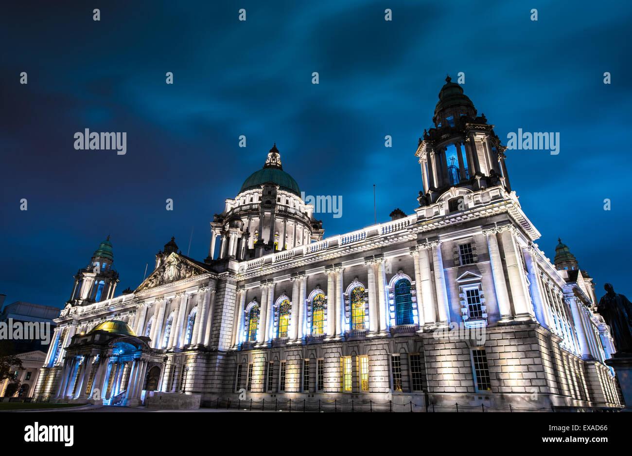 The city hall of Belfast North Ireland, Belfast city, Northern Ireland, UK - Stock Image