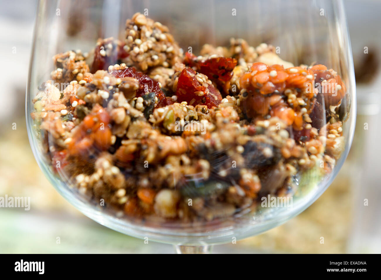 Muesli is a healthy diet for the strong people - Stock Image