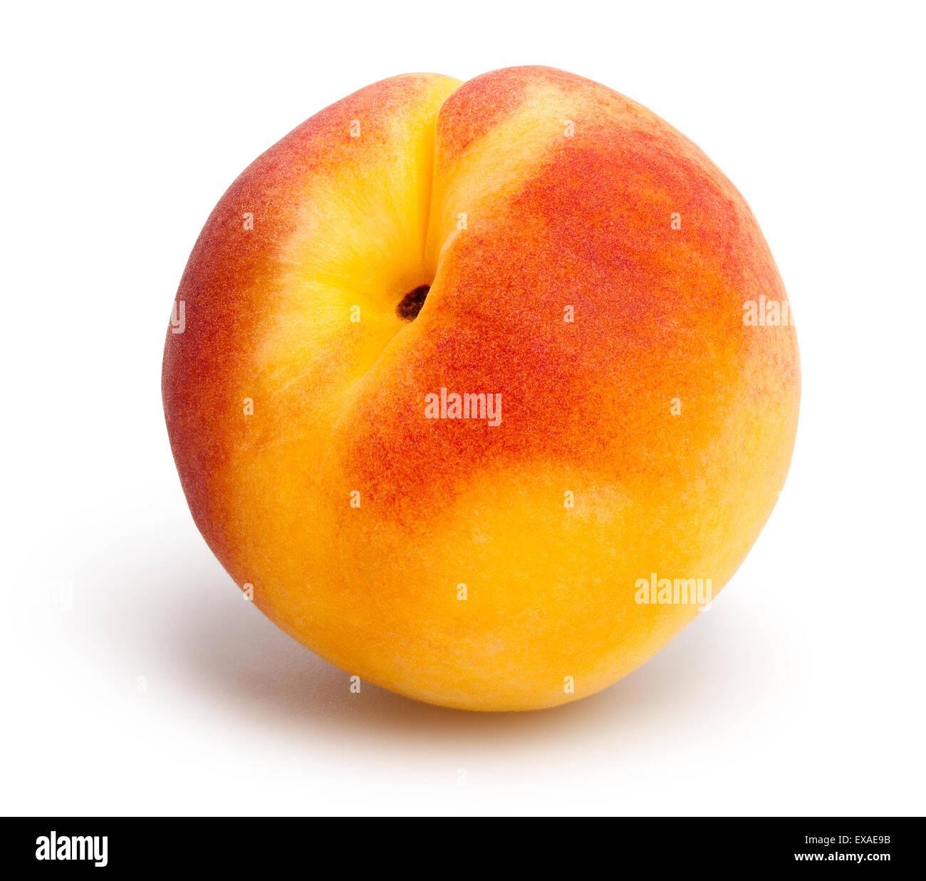 apricot isolated - Stock Image