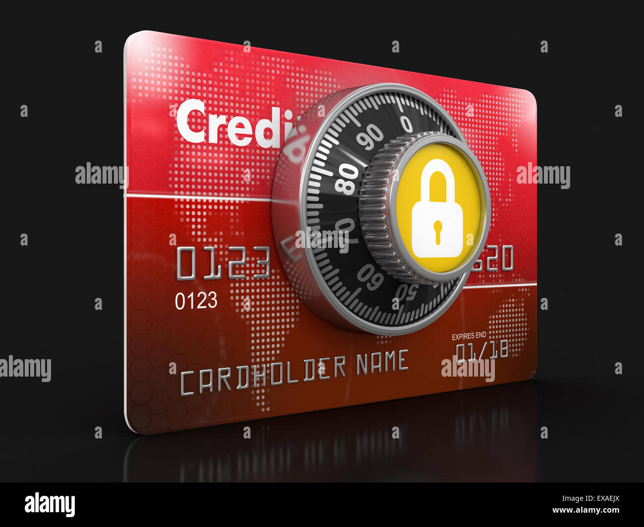 Credit Card Protection (clipping path included) - Stock Image