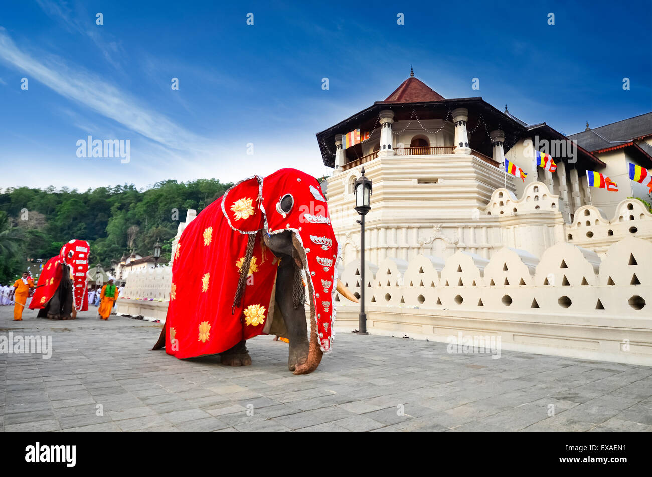 Temple of the tooth of Buddha, Kandy, SriLanka - Stock Image