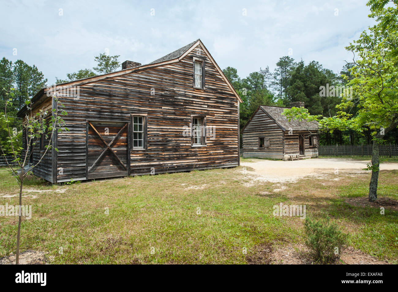 The Civil War site where the South surrendered to the North, Bennett Place State Historic Site, Durham, North Carolina, - Stock Image