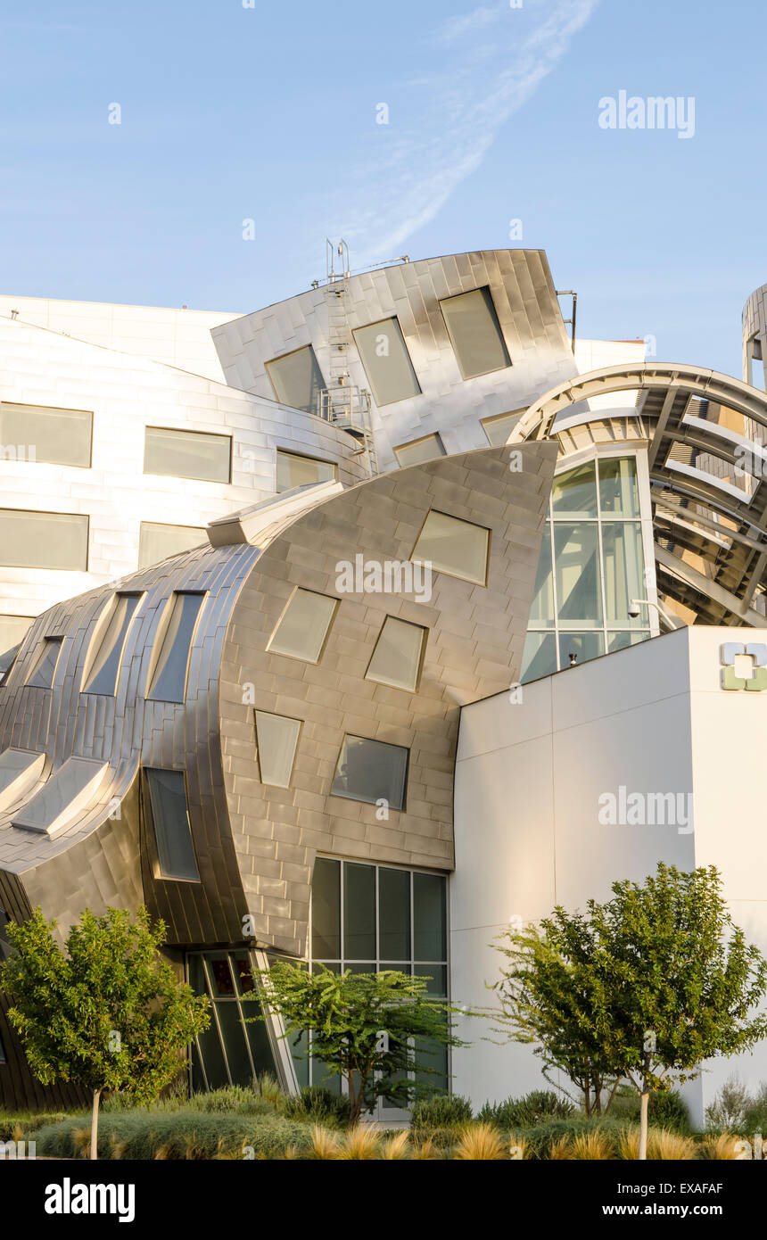 Cleveland Clinic Lou Ruvo Center for Brain Health building designed by Frank Gehry, Las Vegas, Nevada, United States - Stock Image