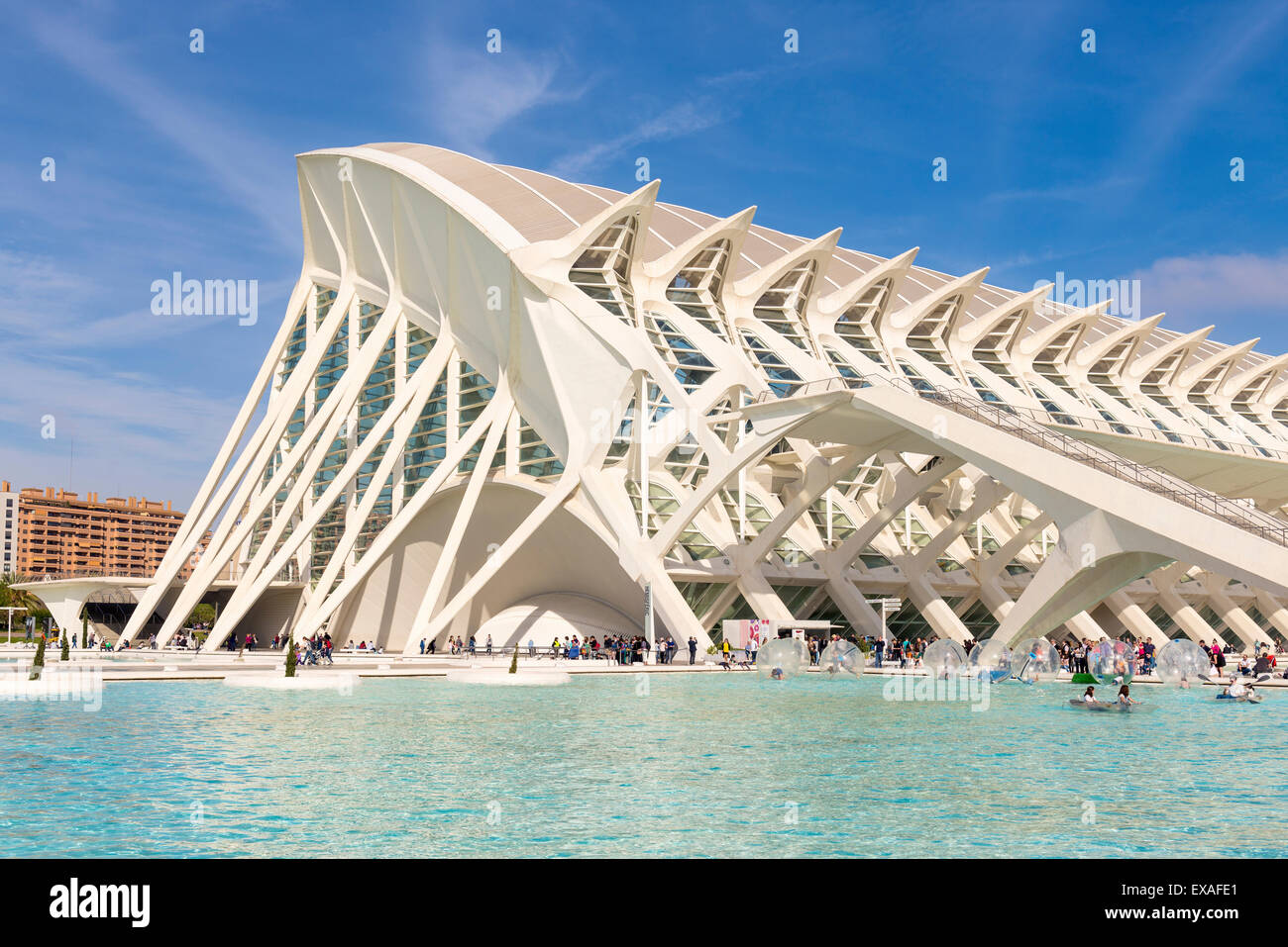 La Ciudad de las Artes y las Ciencias (City of Arts and Sciences), Valencia, Spain, Europe - Stock Image