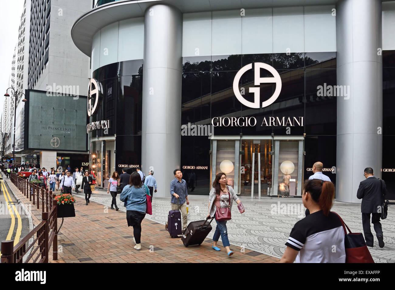 Giorgio Armani Italian Fashion Designer Italy Hong Kong Fashion Stock Photo Alamy
