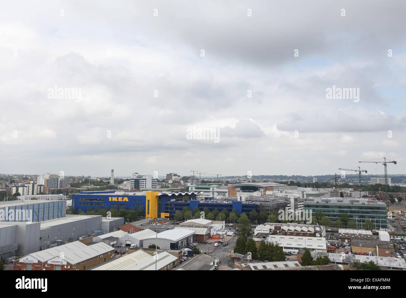 View of Southampton City Centre skyline - Stock Image