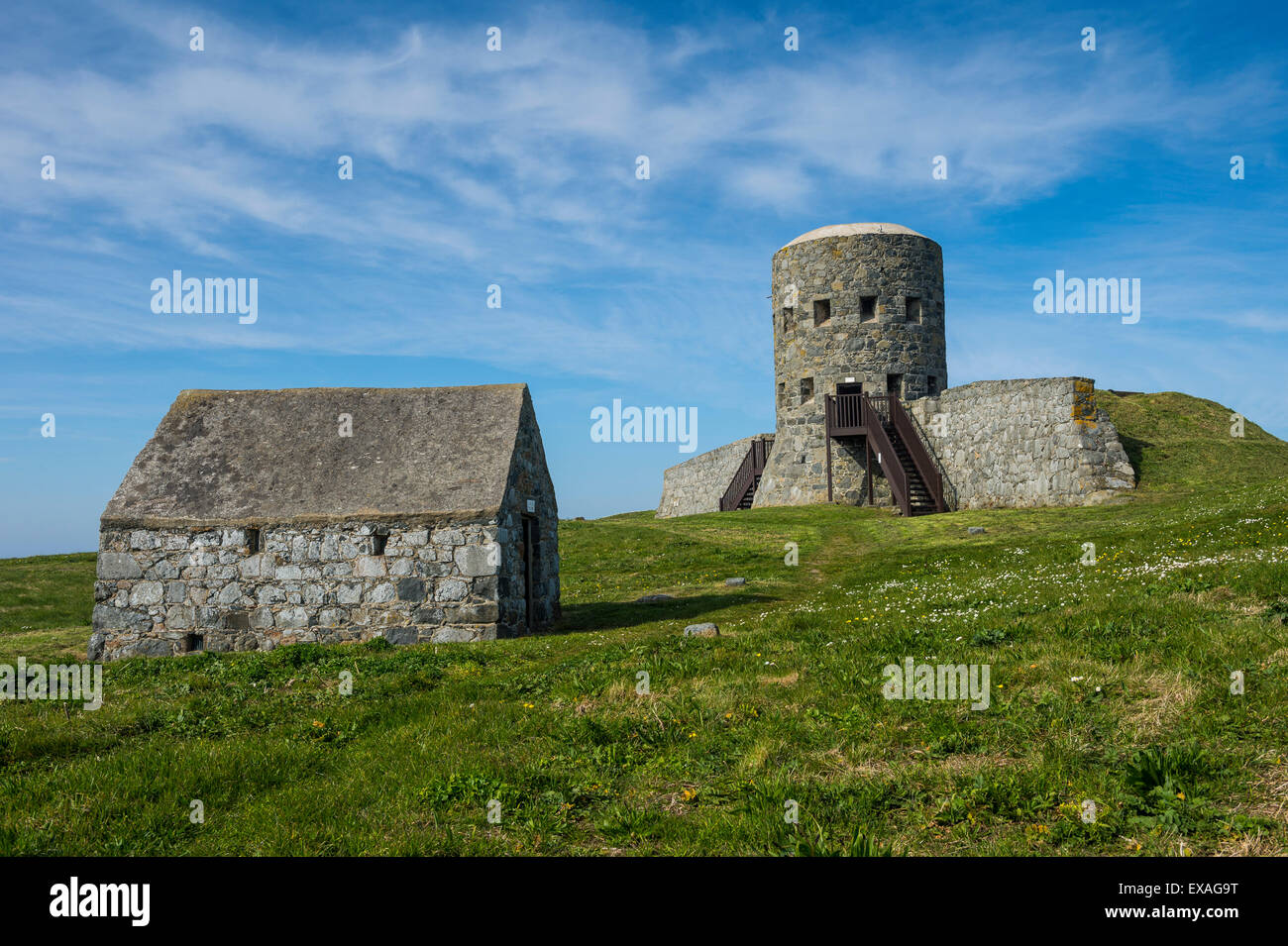 Matello defence tower, Guernsey, Channel Islands, United Kingdom, Europe - Stock Image