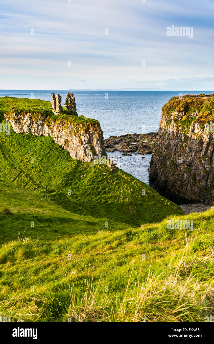 Dunseverick Castle near the Giants Causeway, County Antrim, Ulster, Northern Ireland, United Kingdom, Europe Stock Photo