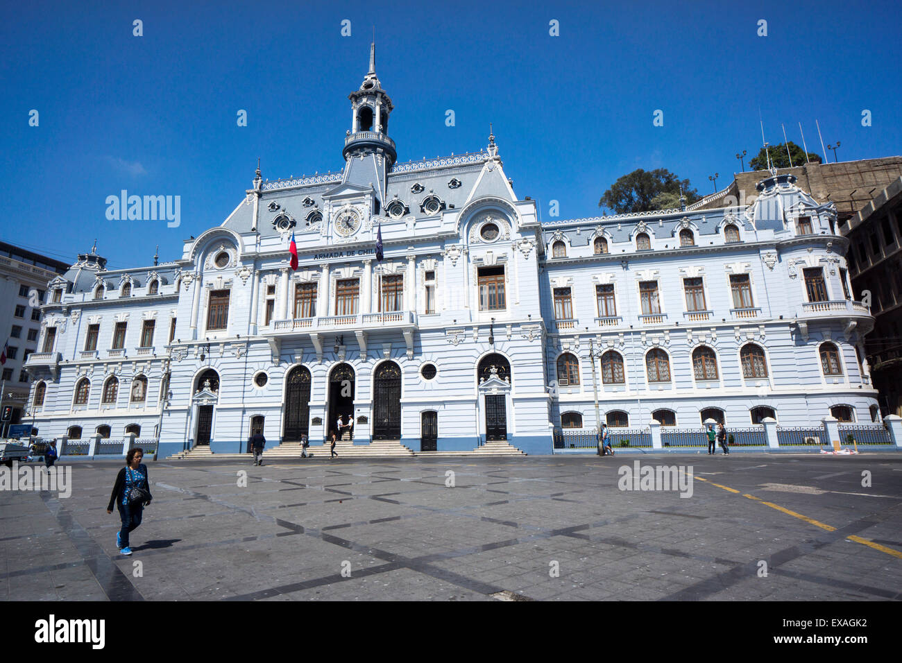 The Admiralty Building, Valparaiso, Chile, South America - Stock Image