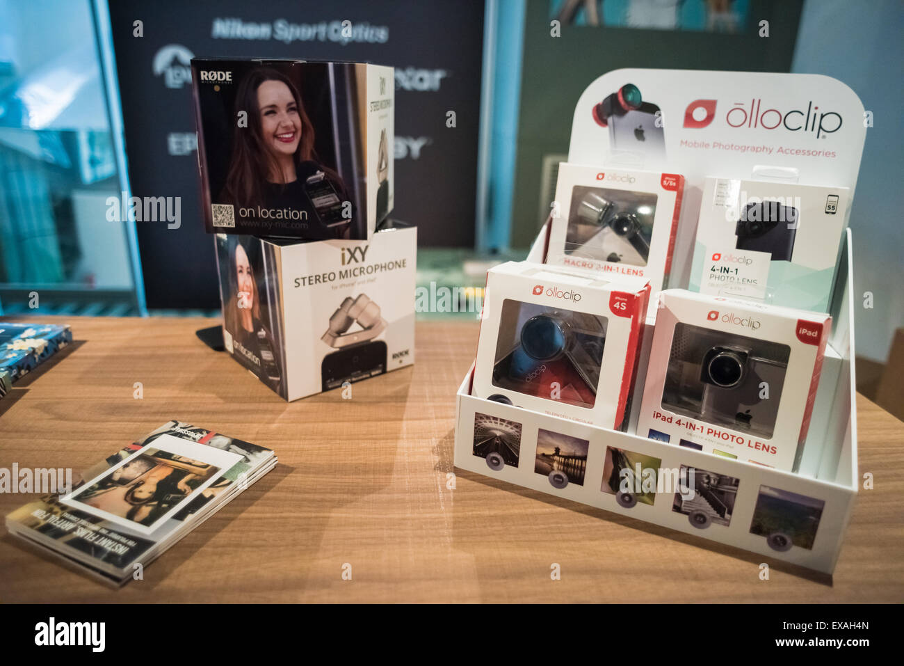 MILAN, ITALY - SEPTEMBER 27: Nikon Live in Milan, Italy on September, 27 2014. Nikon Live is the first Nikon event Stock Photo