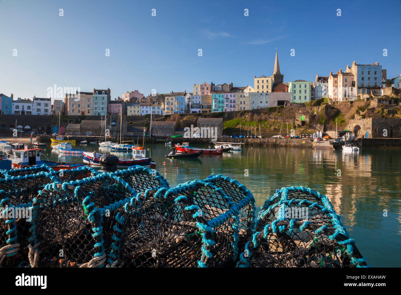 Tenby, West Wales, Pembrokeshire, Wales, United Kingdom, Europe - Stock Image