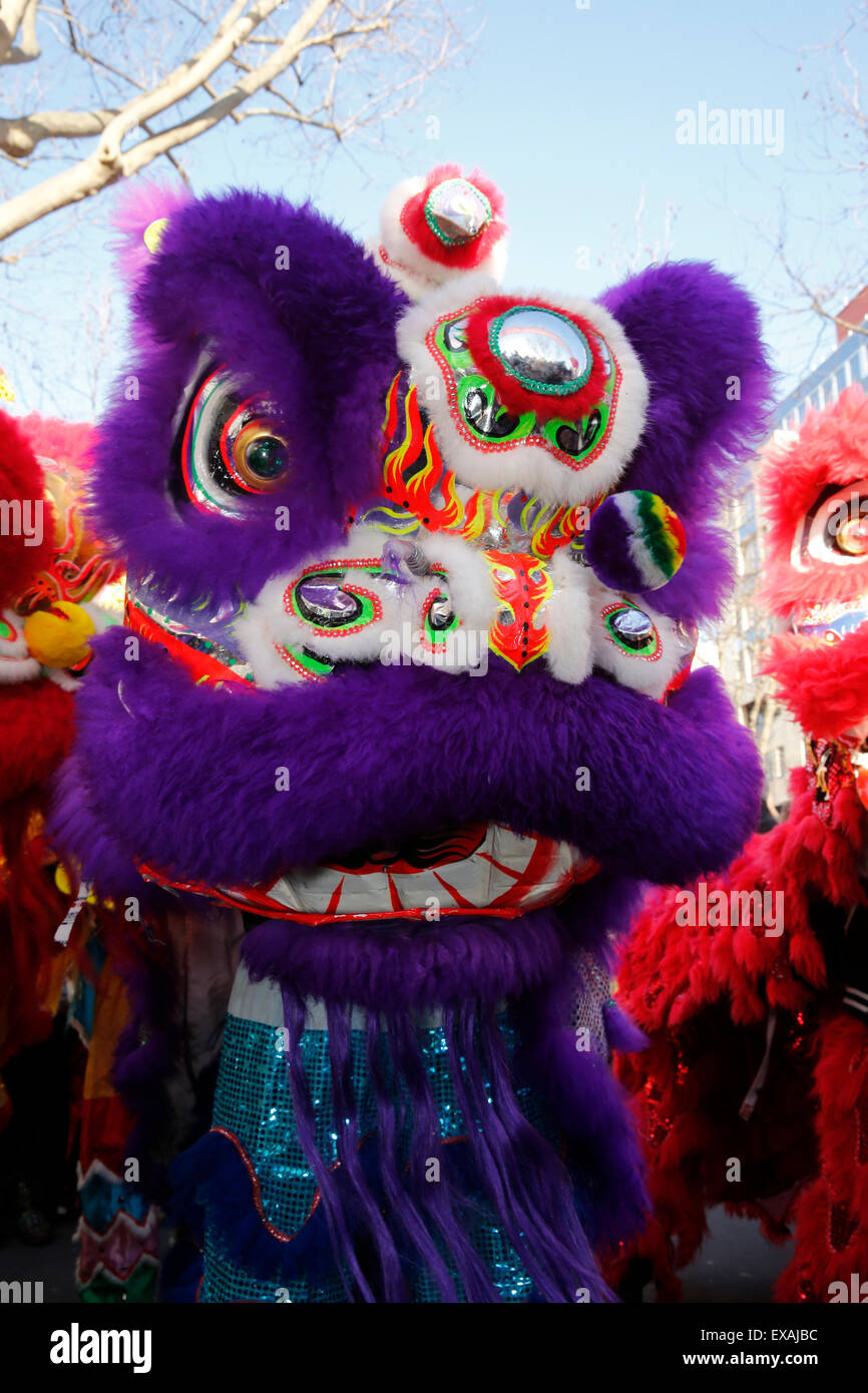 Dragon dance, Chinese New Year, Paris, France, Europe Stock