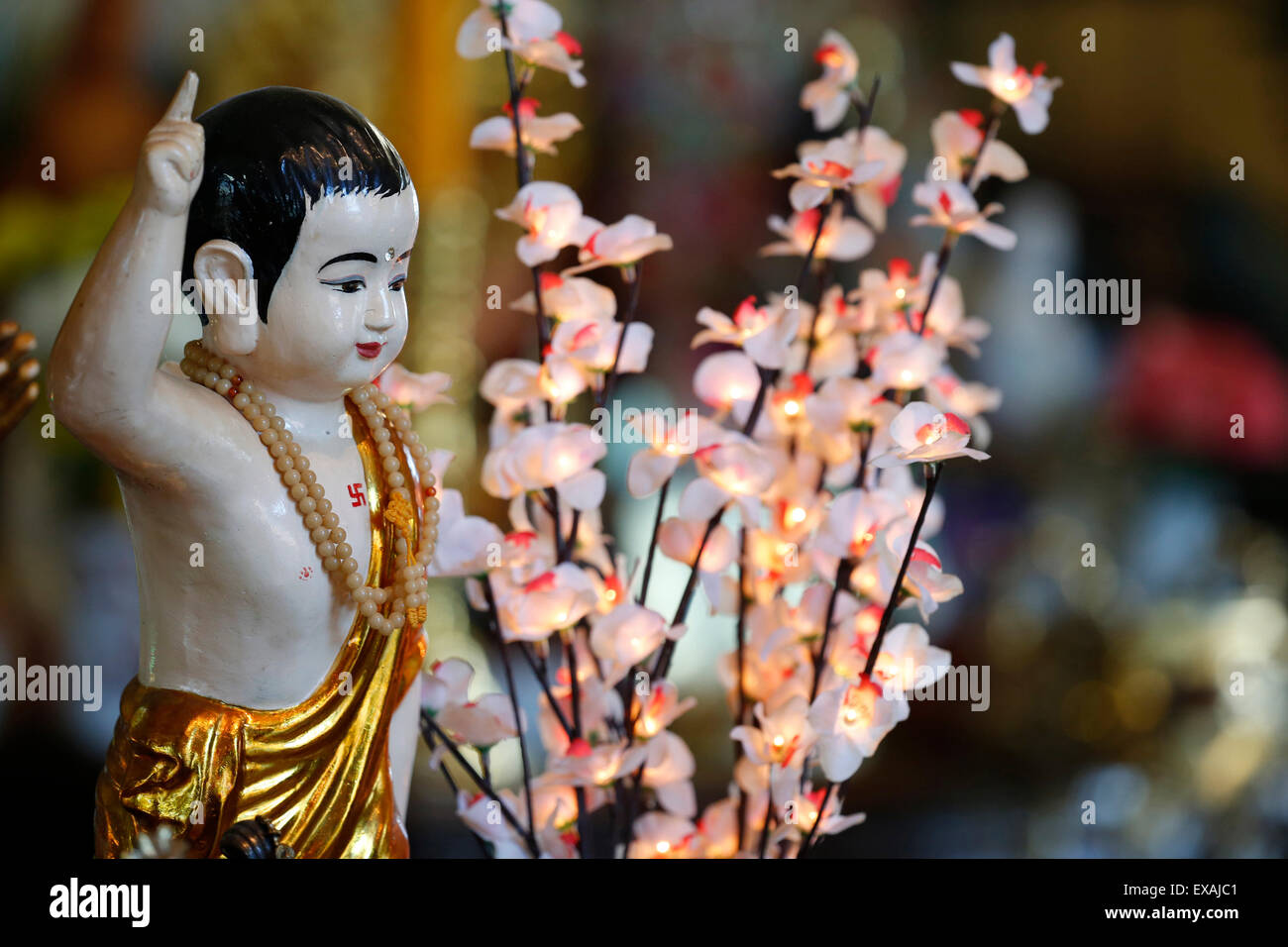 Birthday of Shakyamuni Buddha (Vesak), Tu An Buddhist Temple, Saint-Pierre-en-Faucigny, Haute Savoie, France, Europe - Stock Image