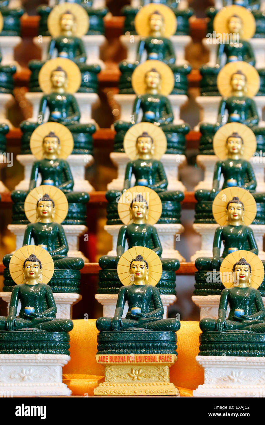 Jade Buddha for universal peace, Tu An Buddhist Temple, Saint-Pierre-en-Faucigny, Haute Savoie, France, Europe - Stock Image