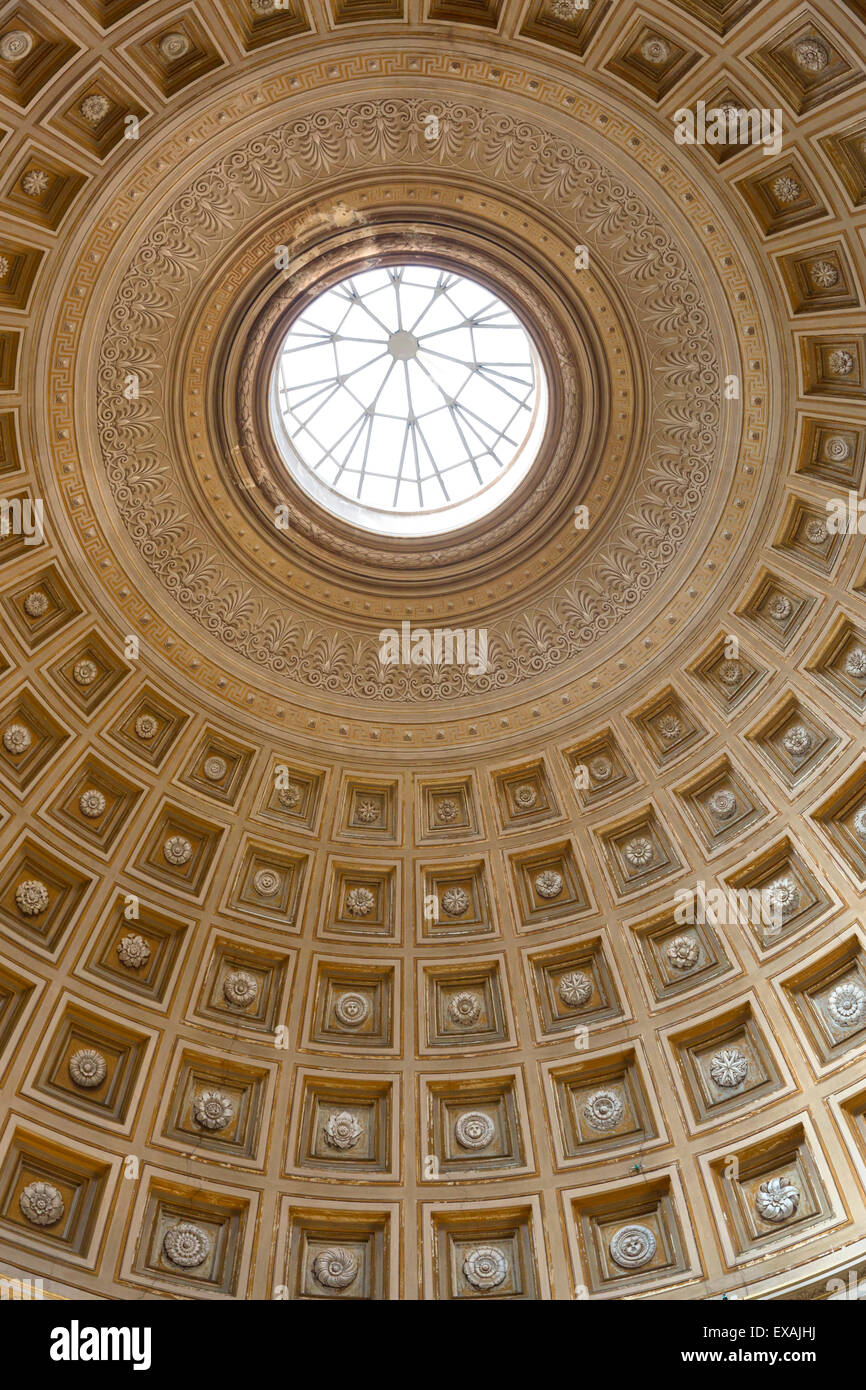 Dome of the Sala Rotonda in the Vatican Museum, Vatican City, Rome, Lazio, Italy, Europe - Stock Image